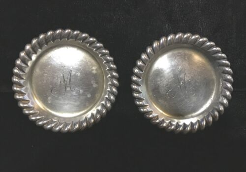 Antique Geo. C. Shreve & Co.Sterling Butter Pats, Scalloped edge