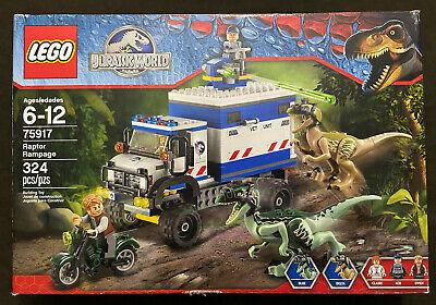 LEGO Jurassic World Raptor Rampage 75917 Park Owen Blue + Delta Retired NEW