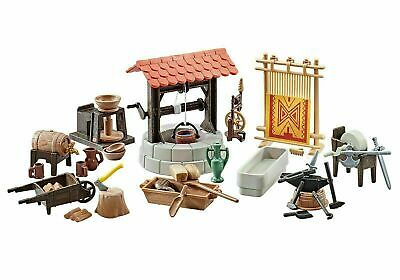 Playmobil Belen nacimiento telar pozo fragua herrería alfarero medieval 9842