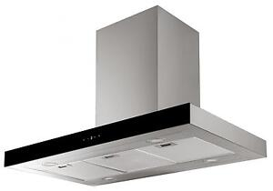 Cookology Stainless Steel Island Box Cooker Hood | 90cm Linear Extractor Fan