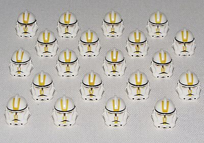 Clone Trooper Girl (LEGO NEW LOT OF 20 STAR WARS CLONE TROOPER HELMETS W YELLOW)