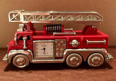 Fossil Clock Limited Edition Fire Truck