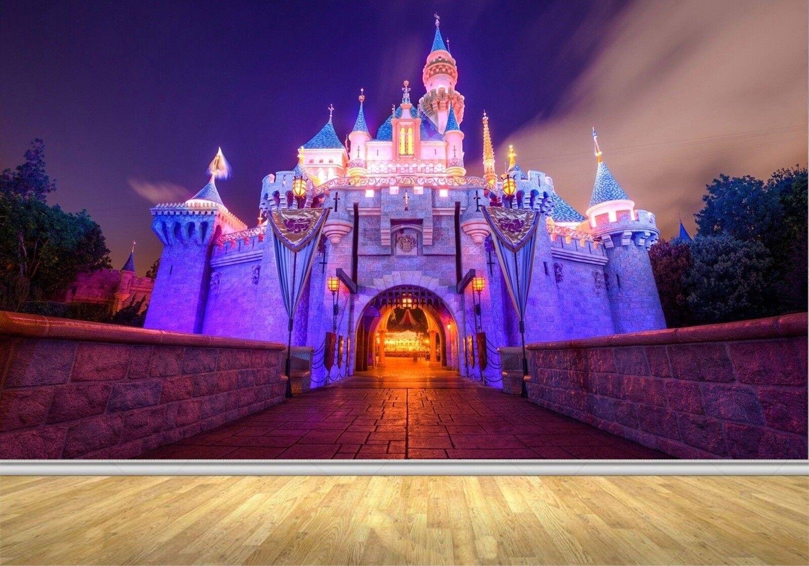 壁壁画デカール プリンセス ディズニー城壁ベッドルーム ビニル