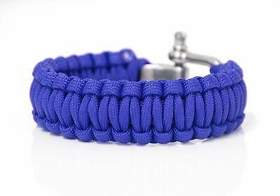 Paracord Armband Survival-Seil geflochten aus reißfestem Parachute Cord blau Survival Armband Blau
