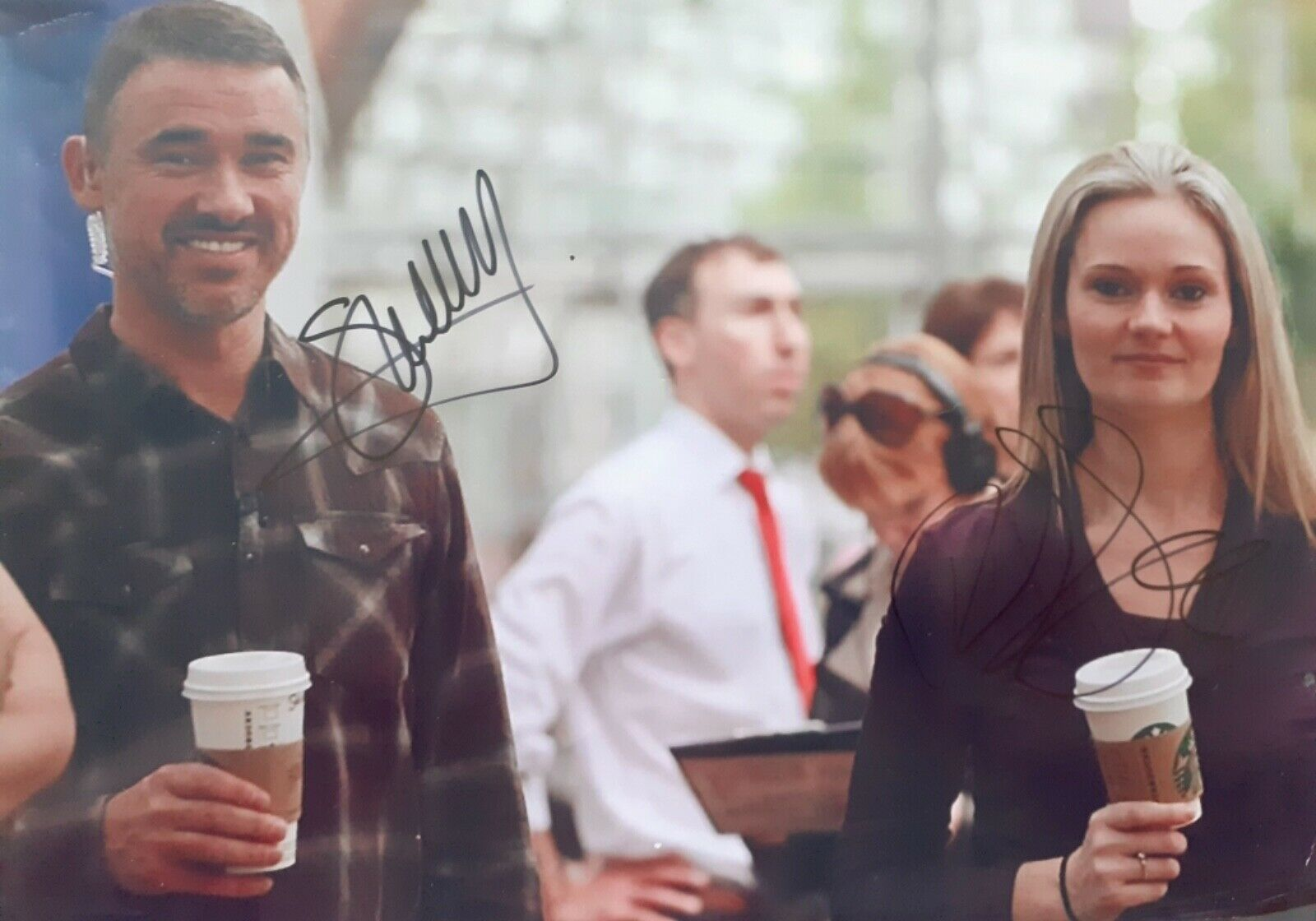 Stephen Hendry and Reanne Evans Snooker Legends Signed 10 x 8 Photo