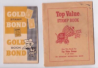 TOP VALUE TV & GOLD BOND TRADING STAMPS BOOKLETS