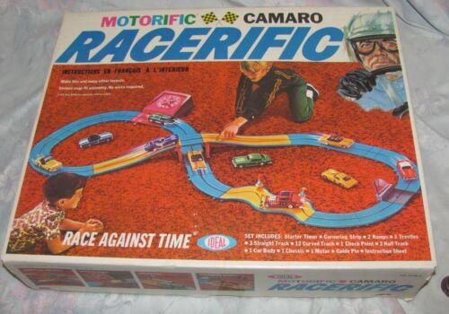 Vintage 1960s IDEAL Motorific Camaro Racerific Slot Racing Complete in Box