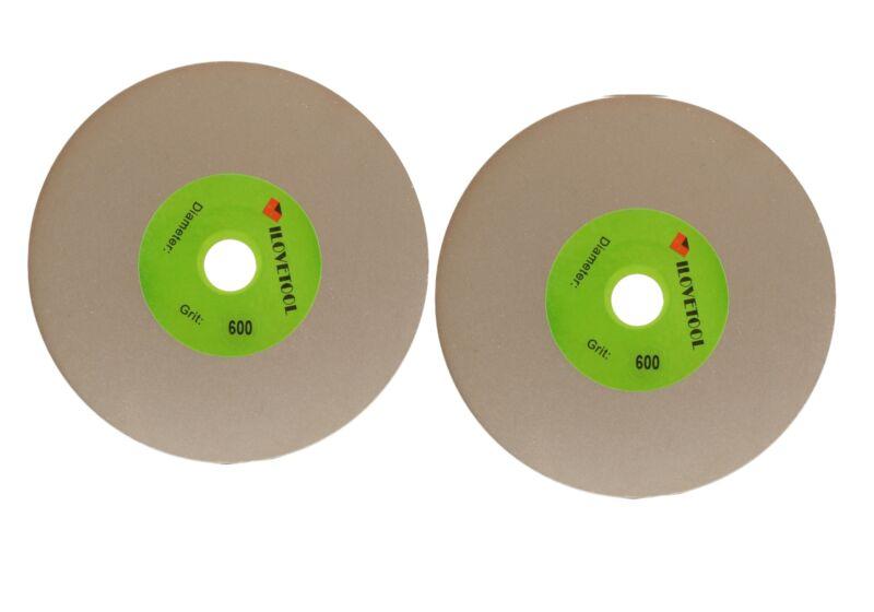 152 mm Diamond Lap Disk 600 Grit Lapidar Grinding Disc 1/2 inch Arbor Hole