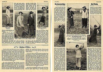 Parlametarisches Golf-Match der Damen des engl.Unterhaus vs Oberhaus 1912