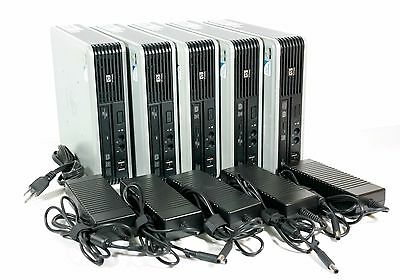 LOT OF 5 HP Compaq dc7900 Ultra-Slim USDT USFF Desktop 4GB RAM/160GB HDD w/PS