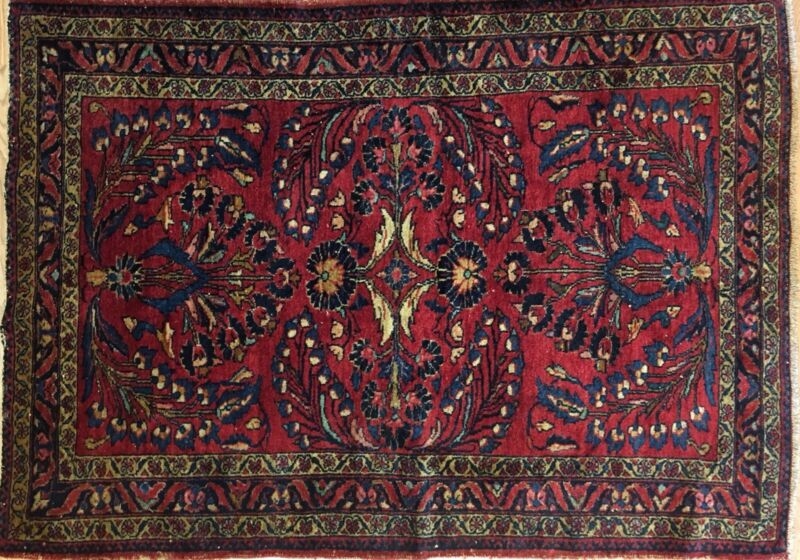 Sensational Sarouk - 1920s Antique Persian Rug - Floral Carpet - 3.4 X 4.8 Ft.