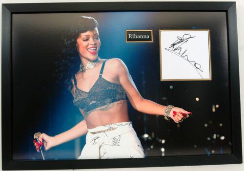 Rhianna Signed Giant Photo Mount Board Genuine Signature AFTAL COA (A)