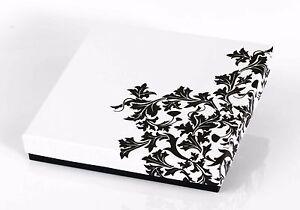 12 x Collier-Etui Schmuck Schachtel Karton Box Samt Einlage Dekor Verpackung