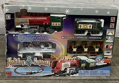 Sterling Holiday Express Train Set Merry Christmas Locomotive Musical Lights