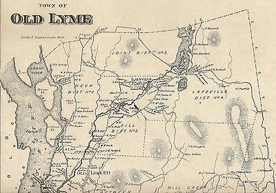 Old Lyme Rogers Lake Laysville  CT 1868 Maps with Homeowners Names Shown