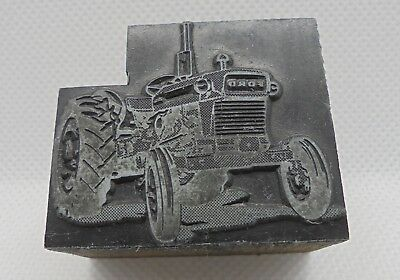 Vintage Printing Letterpress Printers Block Ford Tractor