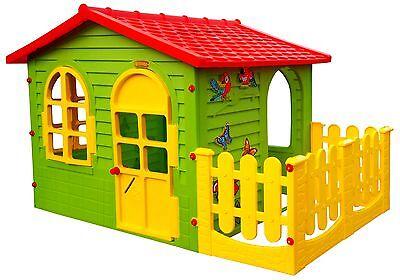 Spielhaus mit Terrasse XXL Riesiges Kinderhaus Gartenhaus indoor outdoor D98