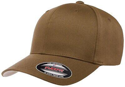 Uniform Cap Hat (Flexfit® Coyote Brown Fitted Hat or Adjustable Cap For Men and Women In Uniform )