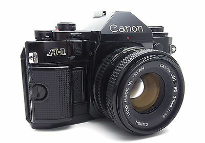 Canon A-1 A1 Camera with 50mm f/1.8 Lens Good Conditions Clean Camera and Lens!