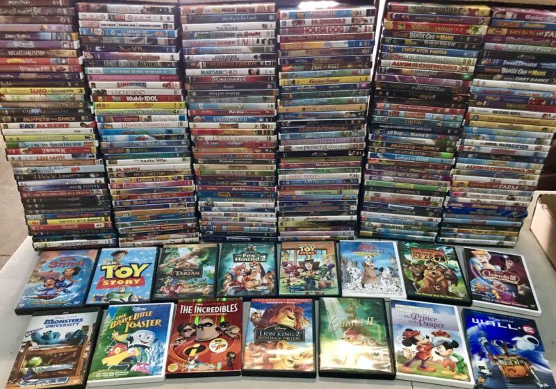 100 Kids DVD LOT WHOLESALE ASSORTED Children