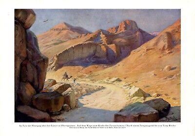 Tal der Könige Luxor XL Kunstdruck 1926 Tony Binder * Wien † Nördlingen Ägypten