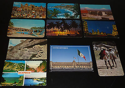 Mexiko 10 Ansichtskarten postalisch gelaufen Mexico