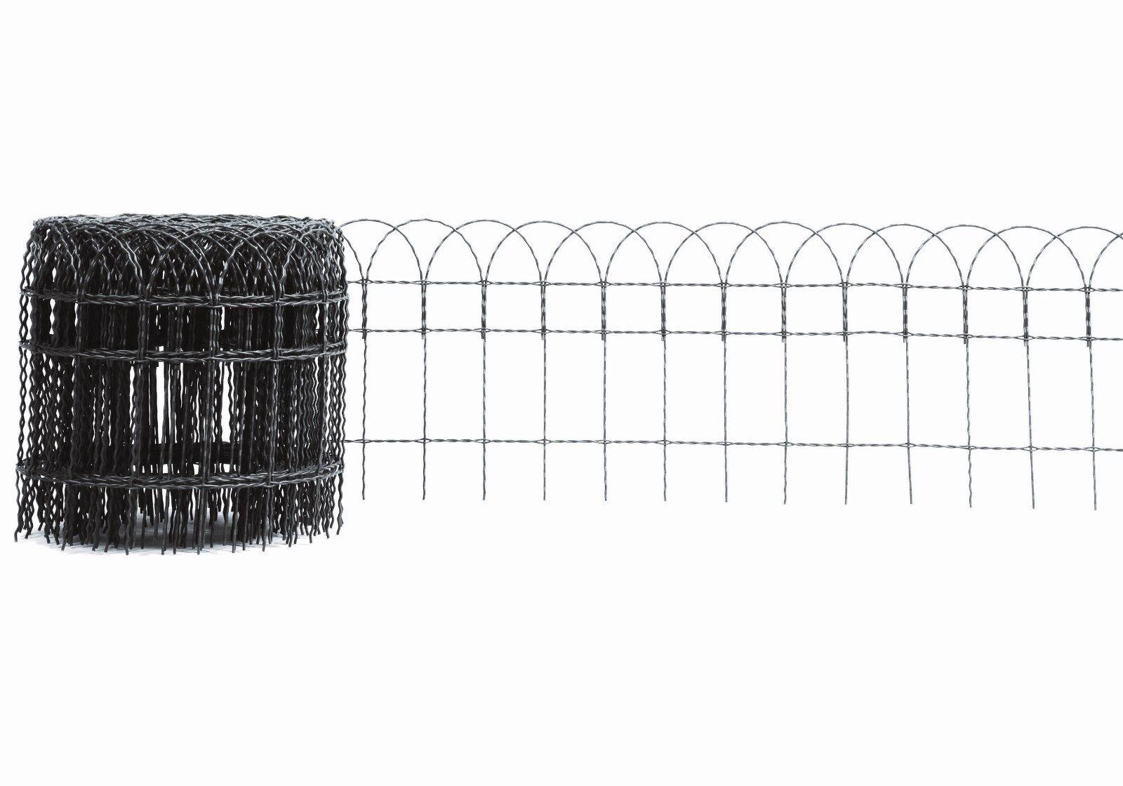 ZIERGEFLECHT Rollenlänge 10 m Höhe 40 cm ZIERGITTER ANTHRAZIT