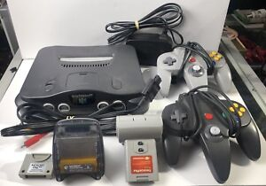 Nintendo 64 - N64 Console With 2 Controllers + Extras