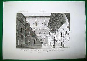 1845-FIRENZE-CORTILE-DELLANTICO-PALAZZO-DEL-PODESTA-ZUCCAGNI-ORLANDINI