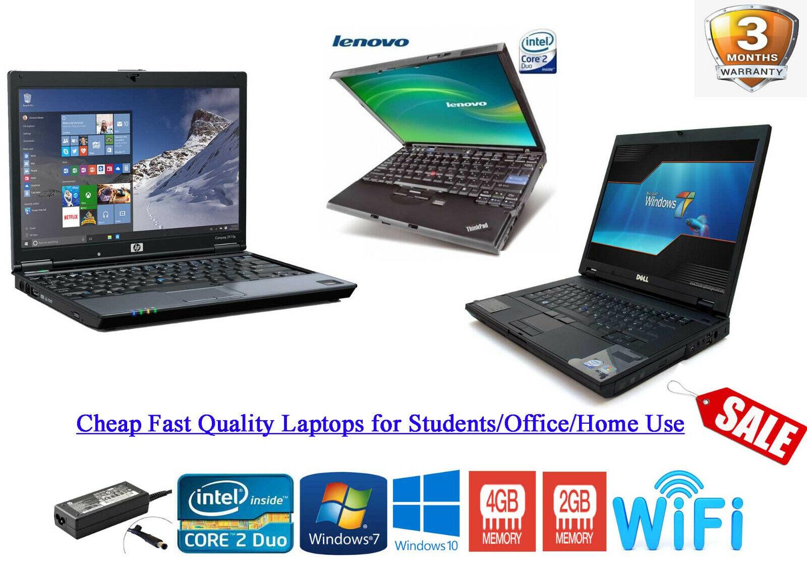 Laptop Windows - Cheap Fast Windows 10 LAPTOP i5 i3 Core 2 Duo 320GB 4GB RAM WIFI WARRANTY