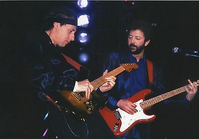 ERIC CLAPTON & MARK KNOPFLER PHOTO 1991 UNIQUE EXCLUSIVE IMAGE HUGE 12 INCH GEM