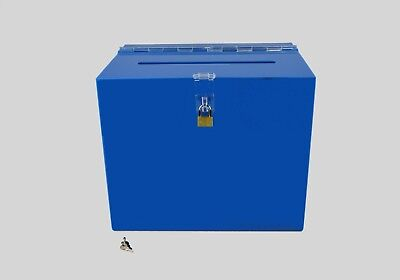 Suggestion Box / Collection Box Lockable - BB0005 Light Blue