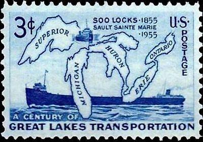 Stamp Refrigerator Magnet - Great Lakes Stamp 3 Cents Refrigerator Fridge  / Tool Box / Magnet