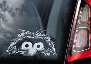 Animal - Car Window Sticker - The Muppet Show Peeper Cartoon Muppets Sign Decal