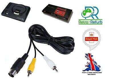 Sega Megadrive 1 TV AV Cable Video Audio Composite Lead Mega Drive...