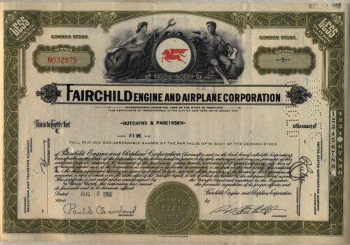 Fairchild Engine & Airplane Corporation Stock Certificate