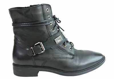 NEW INUOVO FACULA WOMENS FASHION LEATHER LACE UP ANKLE BOOTS