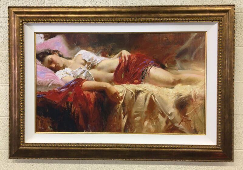 Pino Restful Limited Edition Framed & Signed  Giclée On Canvas