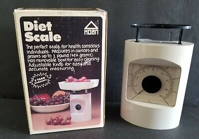 HOAN VINTAGE DIET SCALE WEIGHT LOSS WITH ORIGINAL BOX EXCELLENT CONDITION