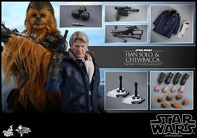 Hot toys MMS376 Star Wars Han Solo and Chewbacca set brand brand new uk seller.