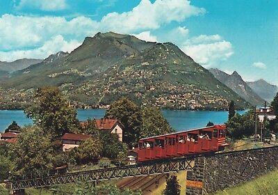 Postkarte - Lugano / Blick auf Lugano und Monte Bre