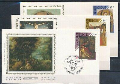 [1850] Belgium 1989 Red Cross 3 good FDC very nice