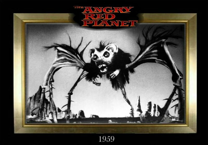 MAGNET  Movie Monster Photo Magnet THE ANGRY RED PLANET 1959
