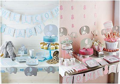 Klein Erdnuss Elefant Neu Baby Dusche Party Reihe (Geschirr & Dekoration) ()