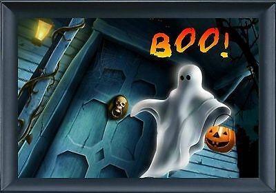 MAGNET HALLOWEEN Ghost Front Door Pumpkin Boo