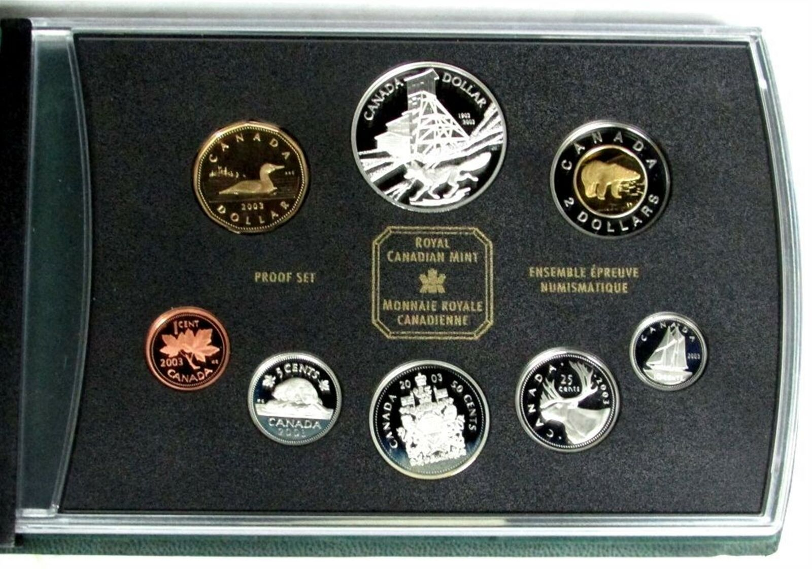 2003 CANADA 100th ANNIVERSARY OF THE COBALT SILVER STRIKE PROOF SILVER DOLLAR
