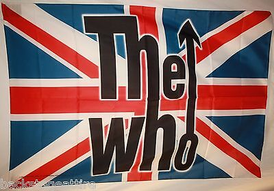 "The Who Union Jack-Townsend Daltry 29""X43"" Cloth Fabric Poster Flag Tapestry-New"