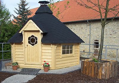 Grillkota 9,2 m² Deluxe (Rundbohle) mit Grillanlage komplett