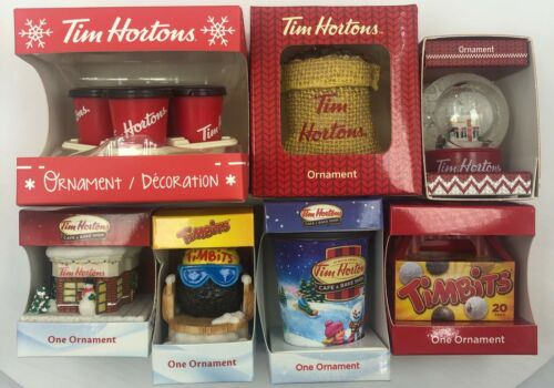 Tim Hortons 2018,2016,2015,2014,2013,2012 Holiday Christmas Tree Xmas Ornaments