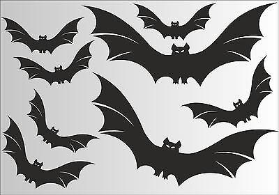 Fledermaus 8 Stück Aufkleber - Fensterbild  - Halloween - Deko - Bad - Tuning (Halloween Fenster Aufkleber)